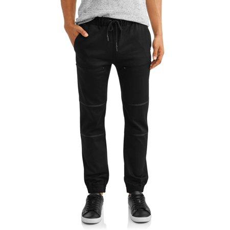 Men's Stretch Twill Elastic Waist Slim Fit Jogger Pants