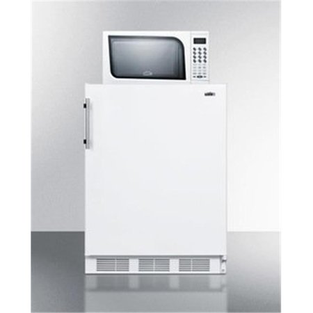 Summit Appliance MRF661 Compact Refrigerator Freezer-Microwave Unit with Dual Evaporator Cooling, White