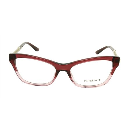 c92e7c39df7a Versace VE3214-5151 Cat Eye Women's Red Frame Clear Lens 54mm Eyeglasses  NIB - Walmart.com