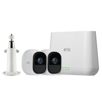 Arlo Pro 720P HD Security Camera System VMS4230 with FREE Outdoor Mount VMA1000 - 2 Wire-Free Rechargeable Battery Cameras with Two-Way Audio, Indoor/Outdoor, Night Vision, Motion Detection
