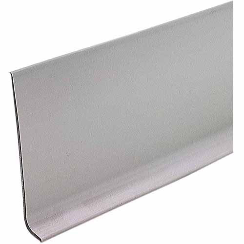 "M-D Products 73898 Silver Gray Vinyl Dryback Wall Base, 4"" x 60'"
