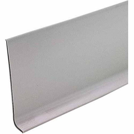 M-D Products 73898 Silver Gray Vinyl Dryback Wall Base, 4