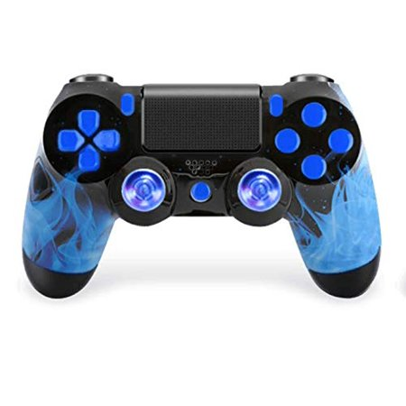 Blue Fire Ps4 PRO Rapid Fire Custom Modded Controller 40 Mods for FPS Games Fortnite &