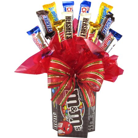 Candyblossoms M'S Assorted Candy Holiday Gift Basket, 15 pc
