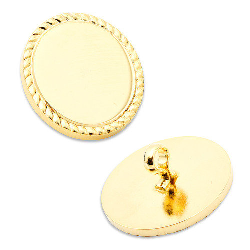Ox and Bull 16mm Rope Border Blazer Button