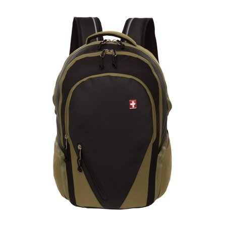 Swiss+Tech Basel School Backpack, Olive
