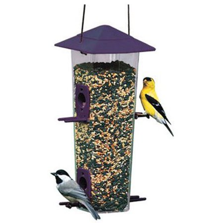 NA6151 Audubon Hopper Songbird/Thistle Wild Bird Feeder, Includes Thistle And Standard Seed Ports By Woodlink