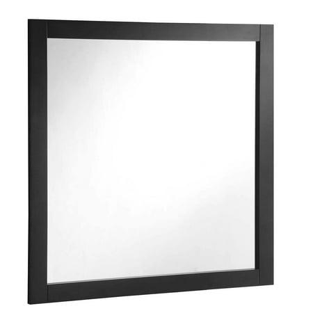 Solid Wood Frame Mirror - Design House 547091 Vanity Bathroom Mirror 30 Inch, Solid Wood Frame, Espresso