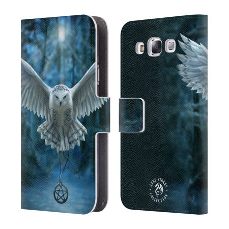 OFFICIAL ANNE STOKES OWLS LEATHER BOOK WALLET CASE COVER FOR SAMSUNG PHONES 3