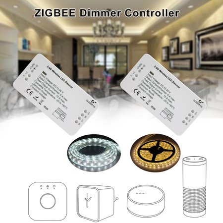 DC12-24V Zigbee Connected Dimmable LED Controller Supported Cell Phone App Control/ Voice Control/ Timer Timing Function Time Setting/ Brightness Adjustable/ Scenes Selecting Compatible for Android/