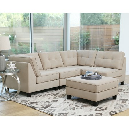 Devon & Claire Mason 5 Piece Modular Sectional, Multiple - Ivory Sectional