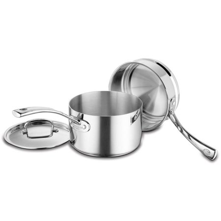 French Classic Stainless, 3-Quart Saucepan with Cover and Double Boiler