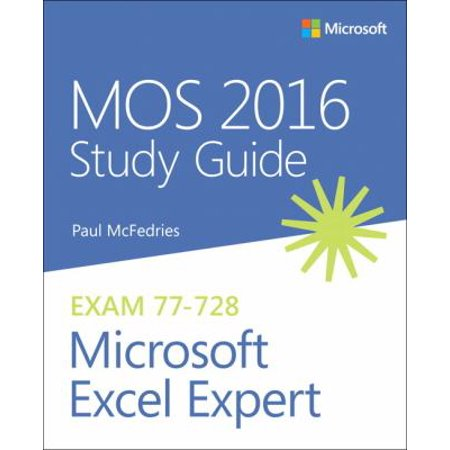 Mos 2016 For Microsoft Excel Expert
