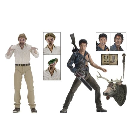 """Evil Dead 2 (30th Anniversary)Boxed Set – 7"""" Scale Action Figures – Hero Ash and Deadite - 30th Anniversary Action Figure Case"""