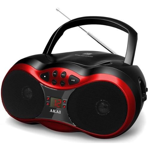 Akai Ce2018r Red Cd Boombox With Am Fm Radio
