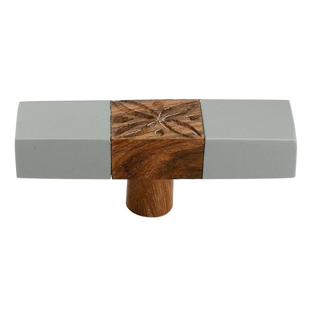 Mascot Hardware CK379GYP 3 in. Marble Effect Cabinet Knob, Brown & Gray - Pack of 5 - image 1 of 1