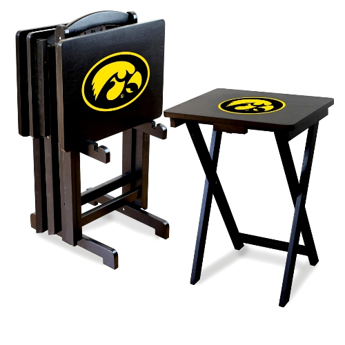 Imperial NCAA Folding TV Tray Set - University of Iowa