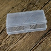 1 x New Small Plastic Transparent With Lid Collection Container Case Storage Box