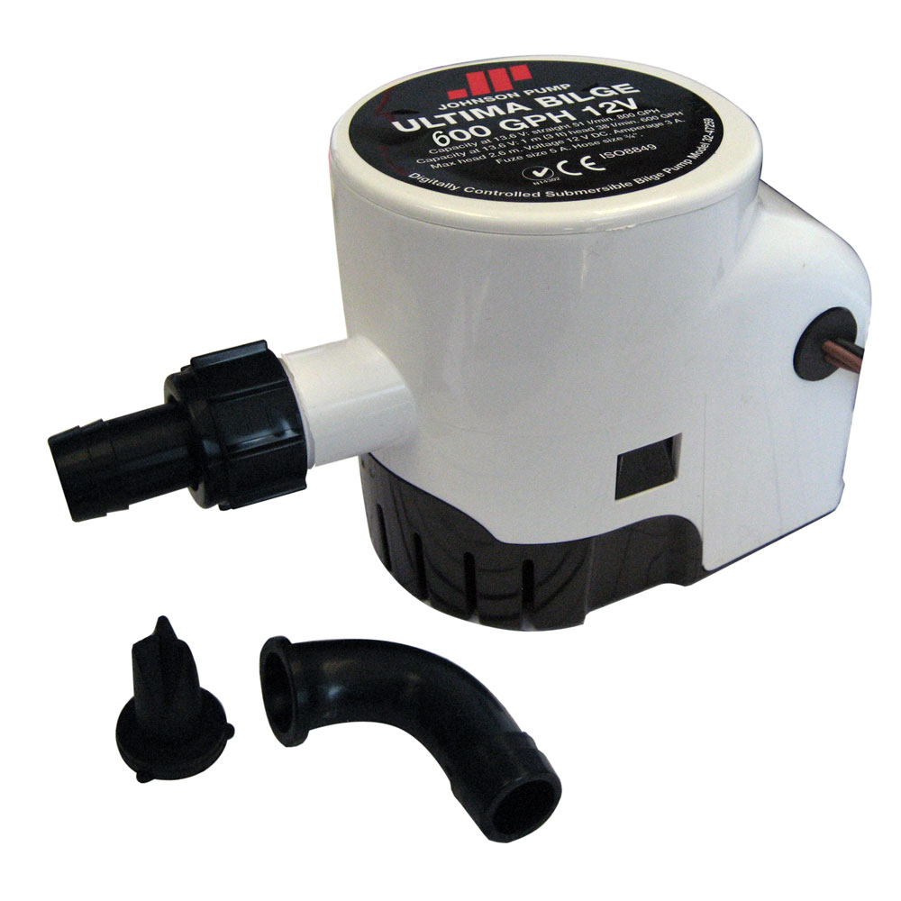 "Johnson Pump 38964M JOHNSON PUMP ULTIMA BILGE 600 GPH 3/4"" HOSE DURA PORTS"