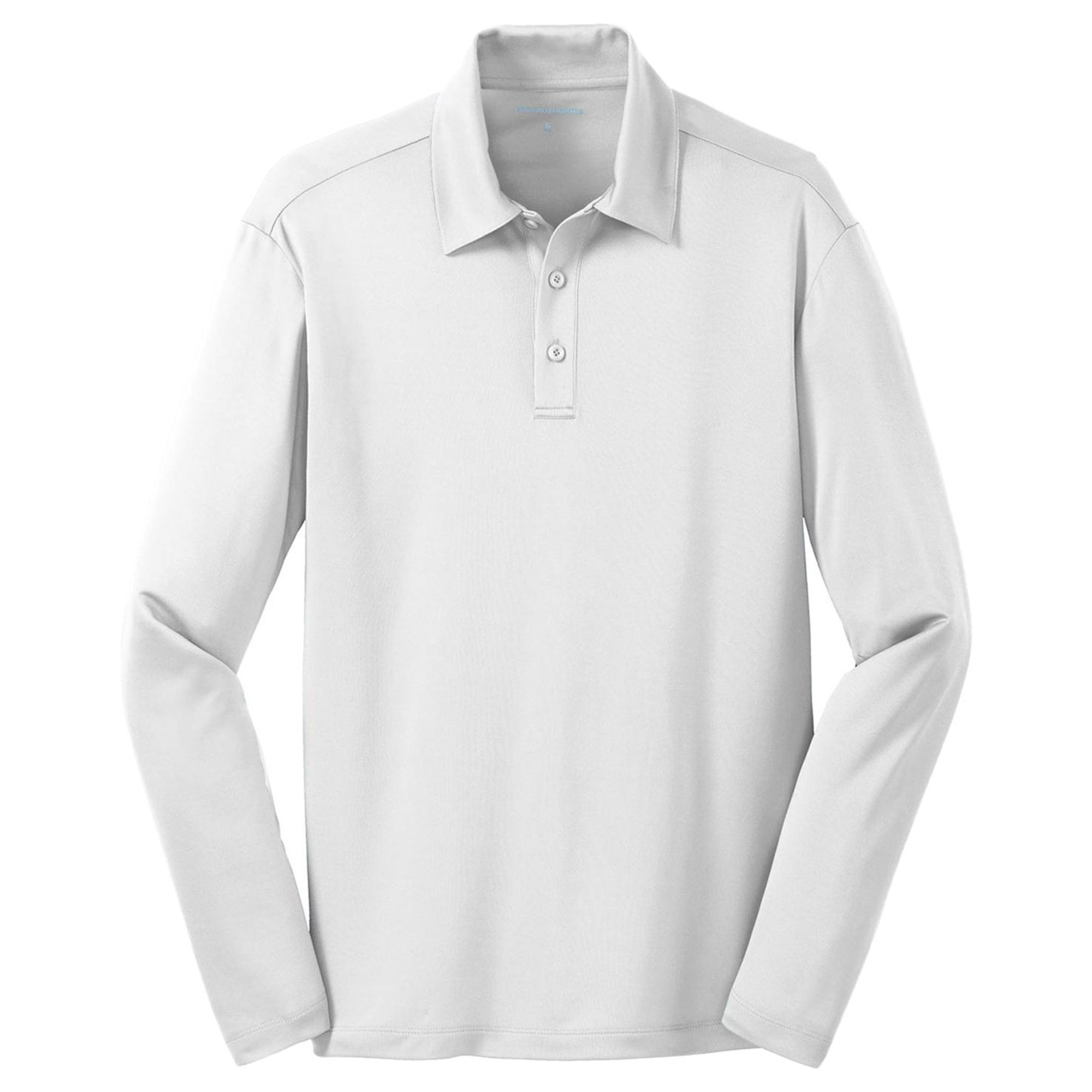 Port Authority Mens Silk Touch Performance Long Sleeve Polo Shirt