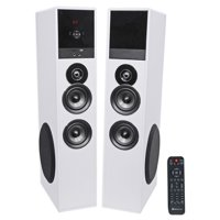 """Rockville TM80W Bluetooth Home Theater Tower Speaker System w/(2) 8"""" Subwoofers!"""