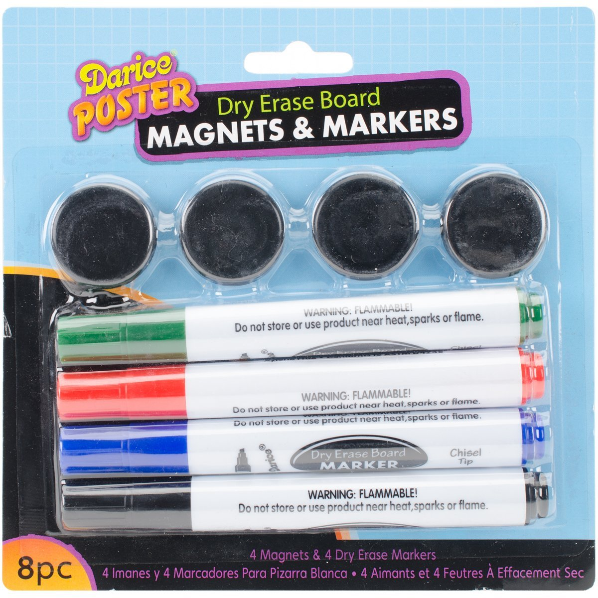 8-Piece White Board Marker and Magnet Set, White Board Marker and Magnet Set - 8 pieces By Darice