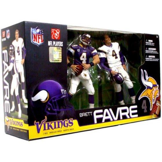 huge selection of 4f46a 2d7fb Brett Favre Action Figure 2-Pack Purple & White Jerseys NFL