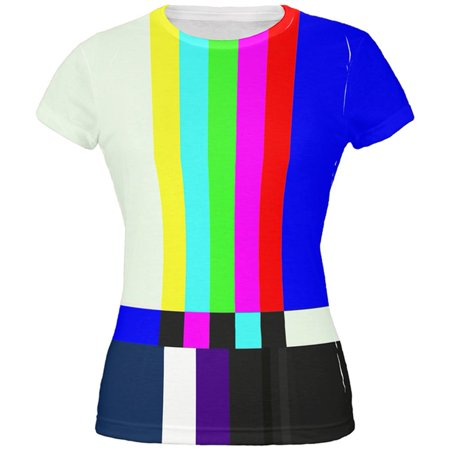 Halloween SMPTE Color Bars Late Night TV Costume All Over Juniors T - Museum Lates Halloween