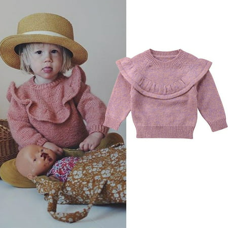 Knit Kids Sweater - Cute Toddler Girls Kids Baby Sweater Knit Pullovers Warm Coat Outerwear Clothes