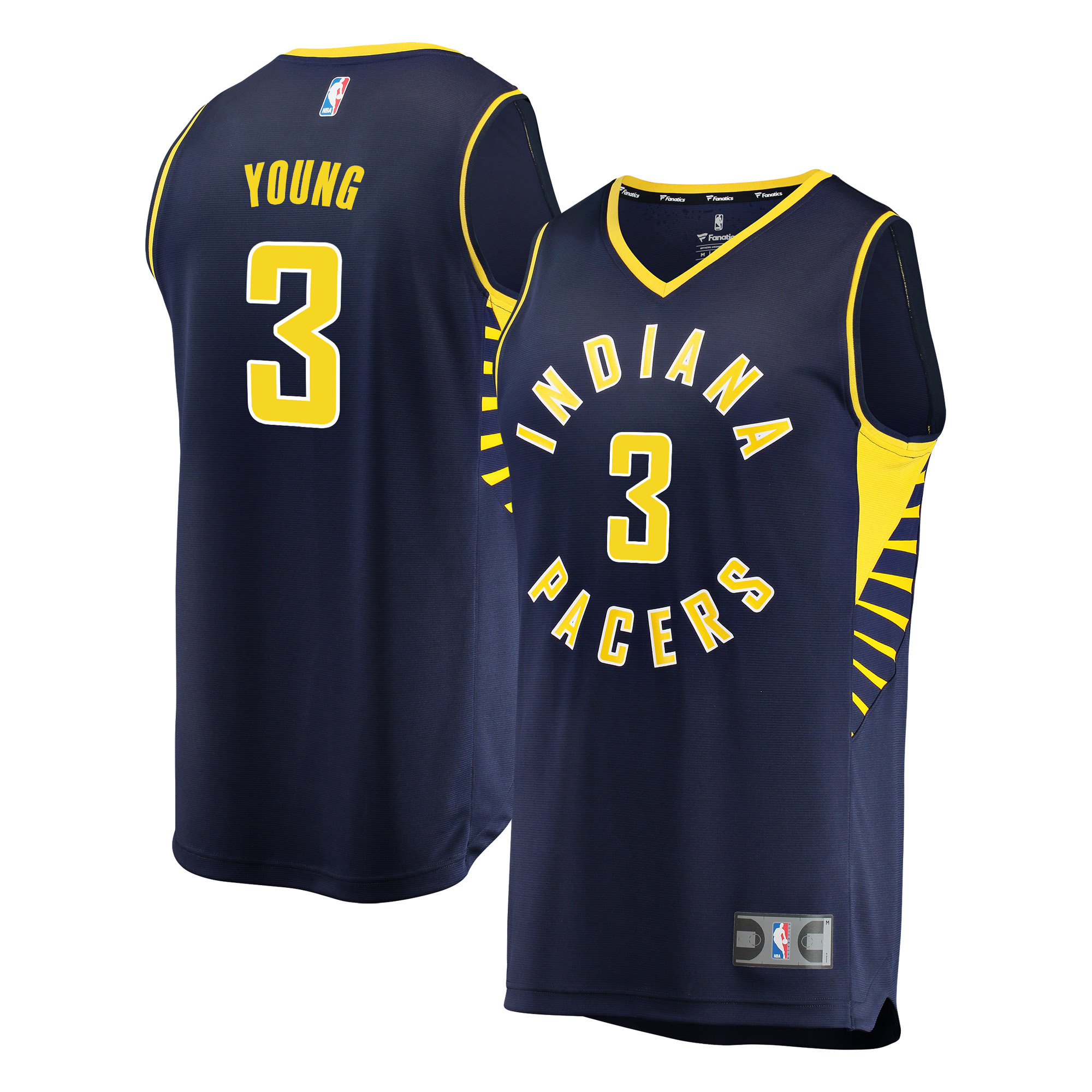Indiana Pacers Joe Young Fanatics Branded Youth Fast Break Player Jersey - Icon Edition - Navy