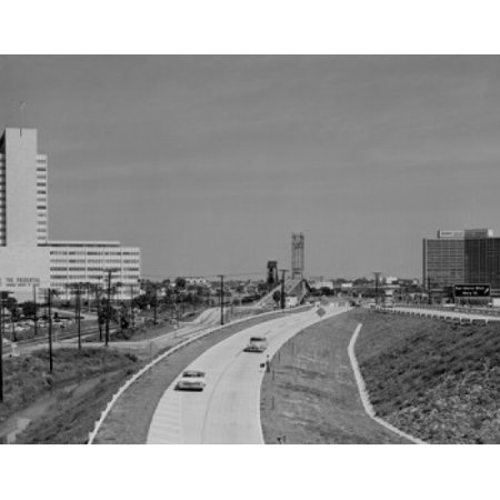 Usa Florida Jacksonville St Elmo West Acosta Bridge Prudential Building On Left Poster Print