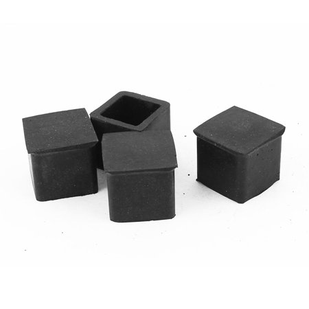 Unique Bargains 4 Pcs Antislip Rubber Square 20mm X 20mm