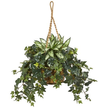 30 Silver Queen And Ivy Artificial Plant In Hanging