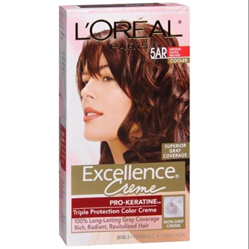 L'Oreal Excellence Creme - 5AR Velvet Brown (Medium Maple Brown) 1 Each (Pack of 2)