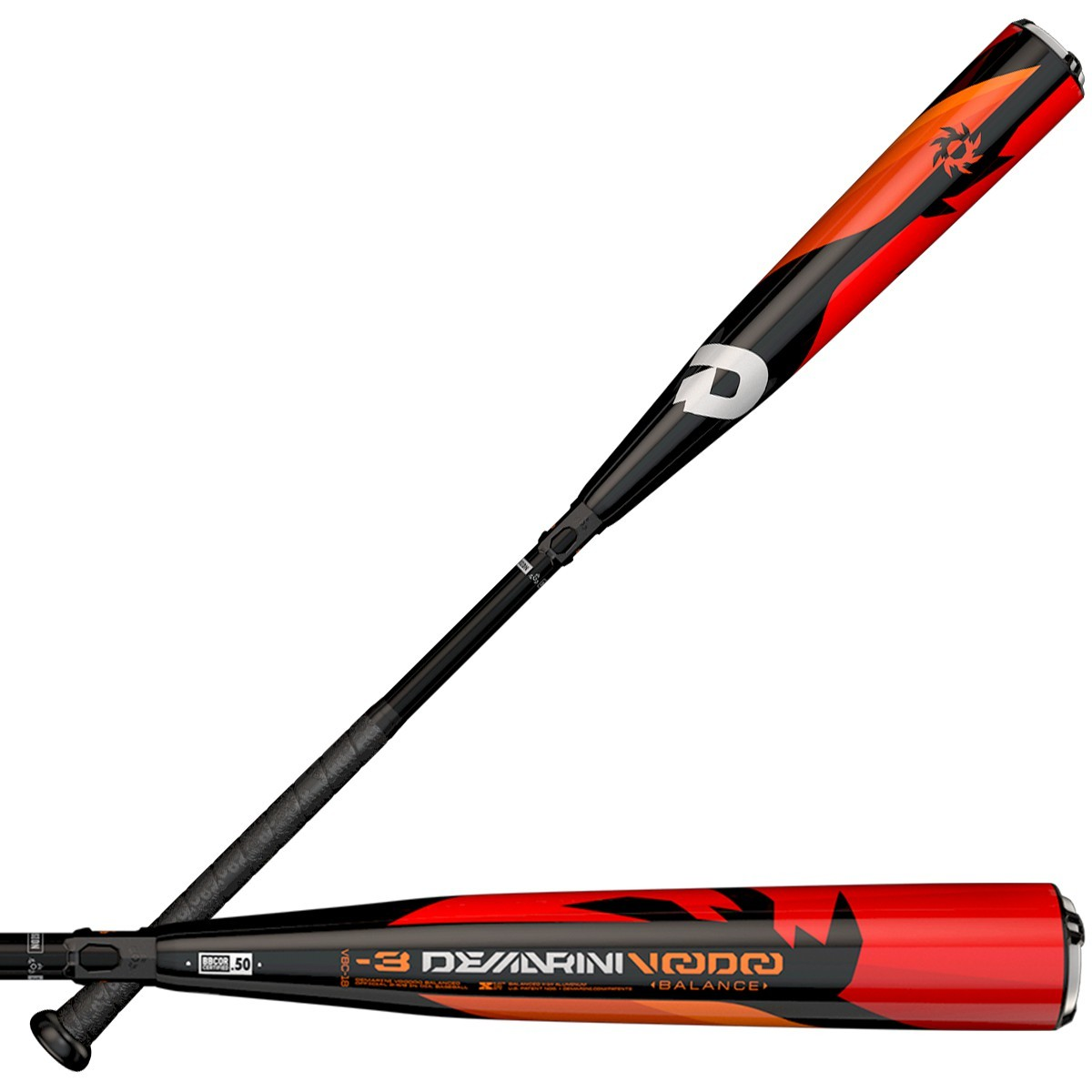 DeMarini Voodoo BBCOR Adult Baseball Bat,VBC-18 33/30, Black/Red 2018 Balanced