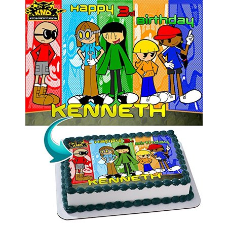 Codename KND Kids Next Door KND Edible Image Cake Topper Personalized Icing Sugar Paper A4 Sheet Edible Frosting Photo Cake 1/4