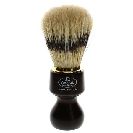 Omega 11126 Boar Shaving Brush, Ovangkol Wooden Handle