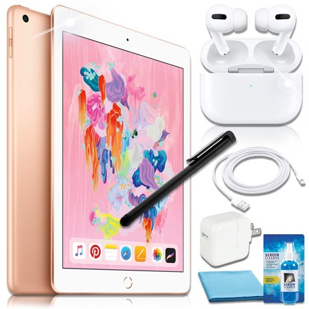 Apple 9.7 iPad (128GB, Wi-Fi Only) with Airpods Pro Bundle