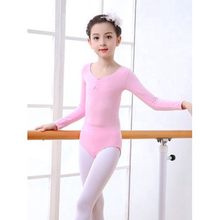 Leotards Dance Gymnastics Ballet Childrens Long Sleeve Dancewear -