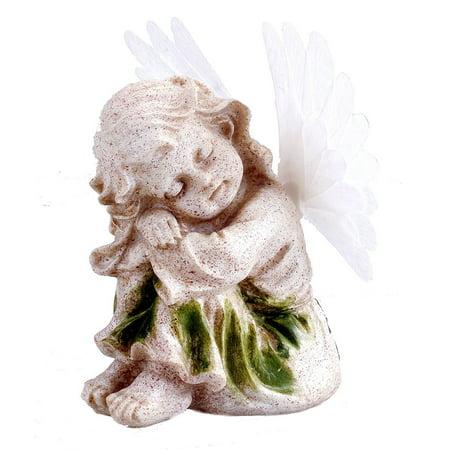 Fiber Optic Landscape Lighting (Solar Powered Angel With Solar Fiber Optic Wings LED Garden Light)