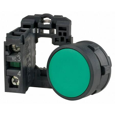 Schneider Electric Non-Illuminated Push Button 22mm Green  Plastic  XB5AA31