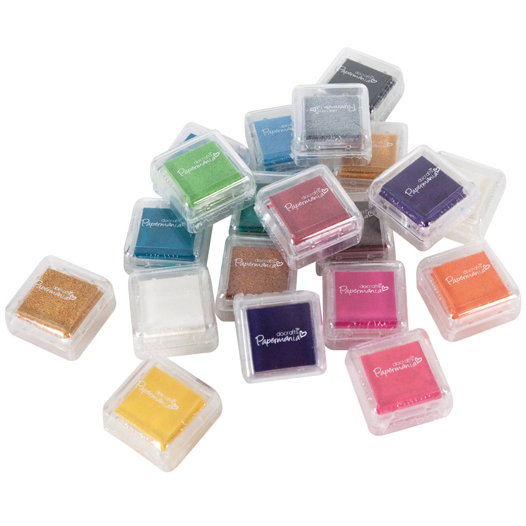 docrafts Papermania Mini Dye Ink Pads 20/Pkg-Assorted Colors