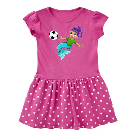 Soccer playing mermaid Toddler Dress
