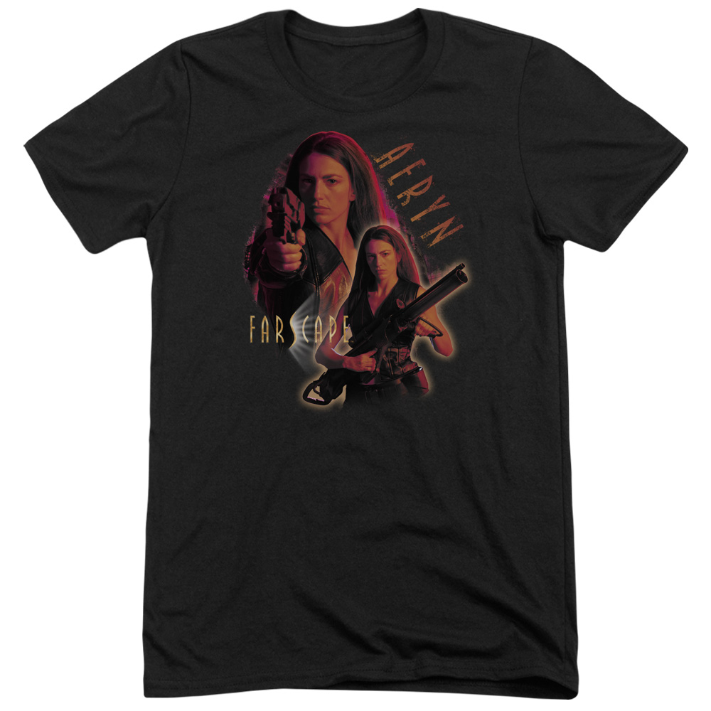 Farscape Aeryn Mens Tri-Blend Short Sleeve Shirt