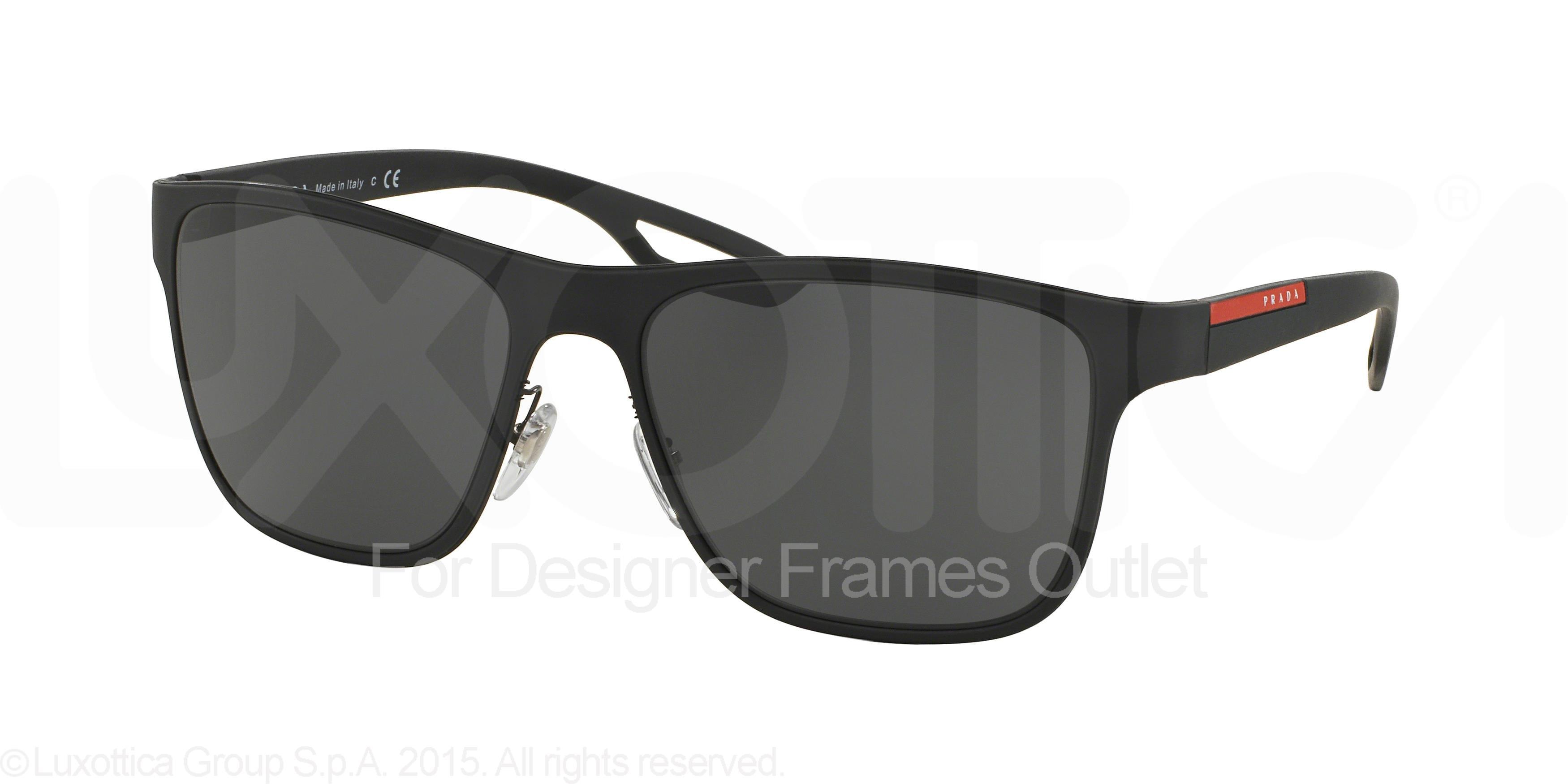 16cb495ff52ba ... canada prada sport prada sport sunglasses ps 56qs dg01a1 black rubber  56mm walmart 93061 45a01