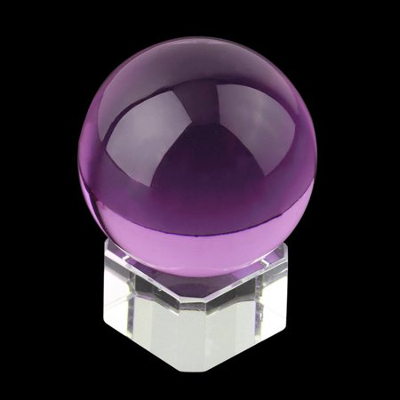 Natural Amethyst Quartz Sphere - Hot Unisex Natural Quartz Purple Magic Crystal Healing Ball Sphere 40mm + Stand