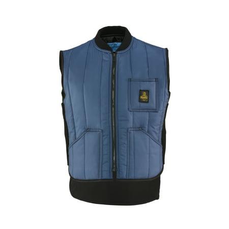 RefrigiWear Men's Warm Cooler Wear Lightweight Fiberfill Insulated Workwear Vest (Ice Vest)