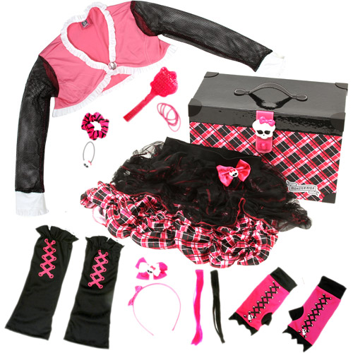 Monster High Plaid 17 Accessory Trunk, Pink