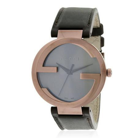 203789cfe59 Gucci - Interlocking Brown Leather Ladies Watch YA133207 - Walmart.com