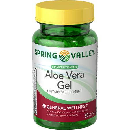 Spring Ale - Spring Valley Aloe Vera Gel, 25 mg, 50 count